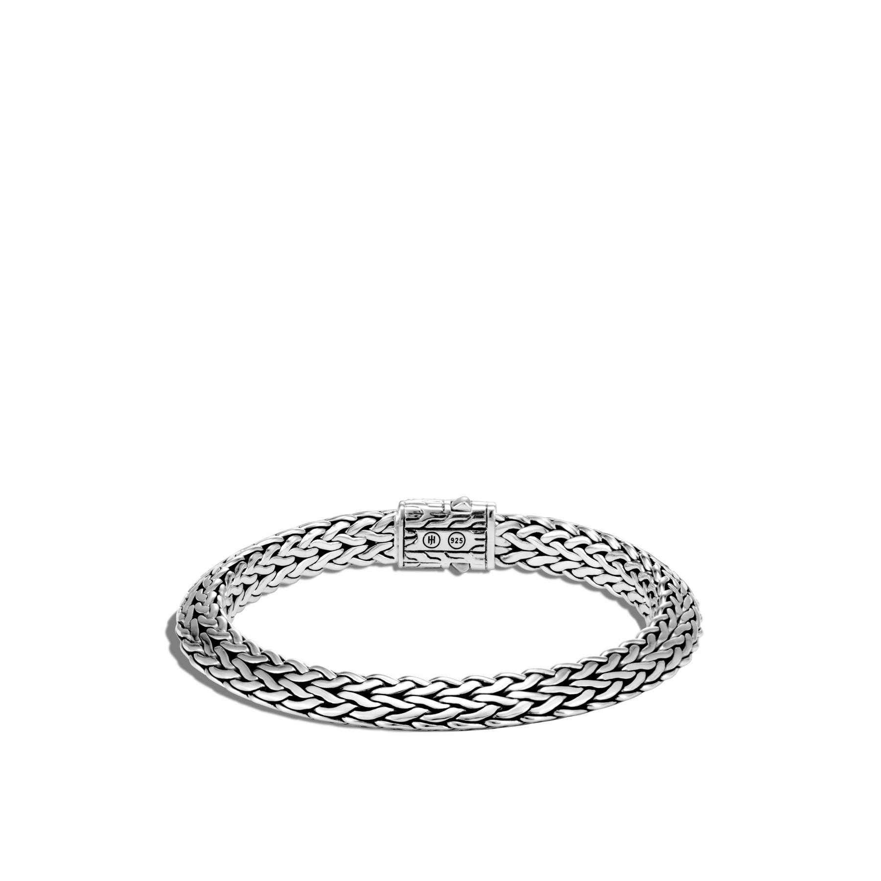 John Hardy Classic Chain Diamond Silver Bracelet - 8mm back view