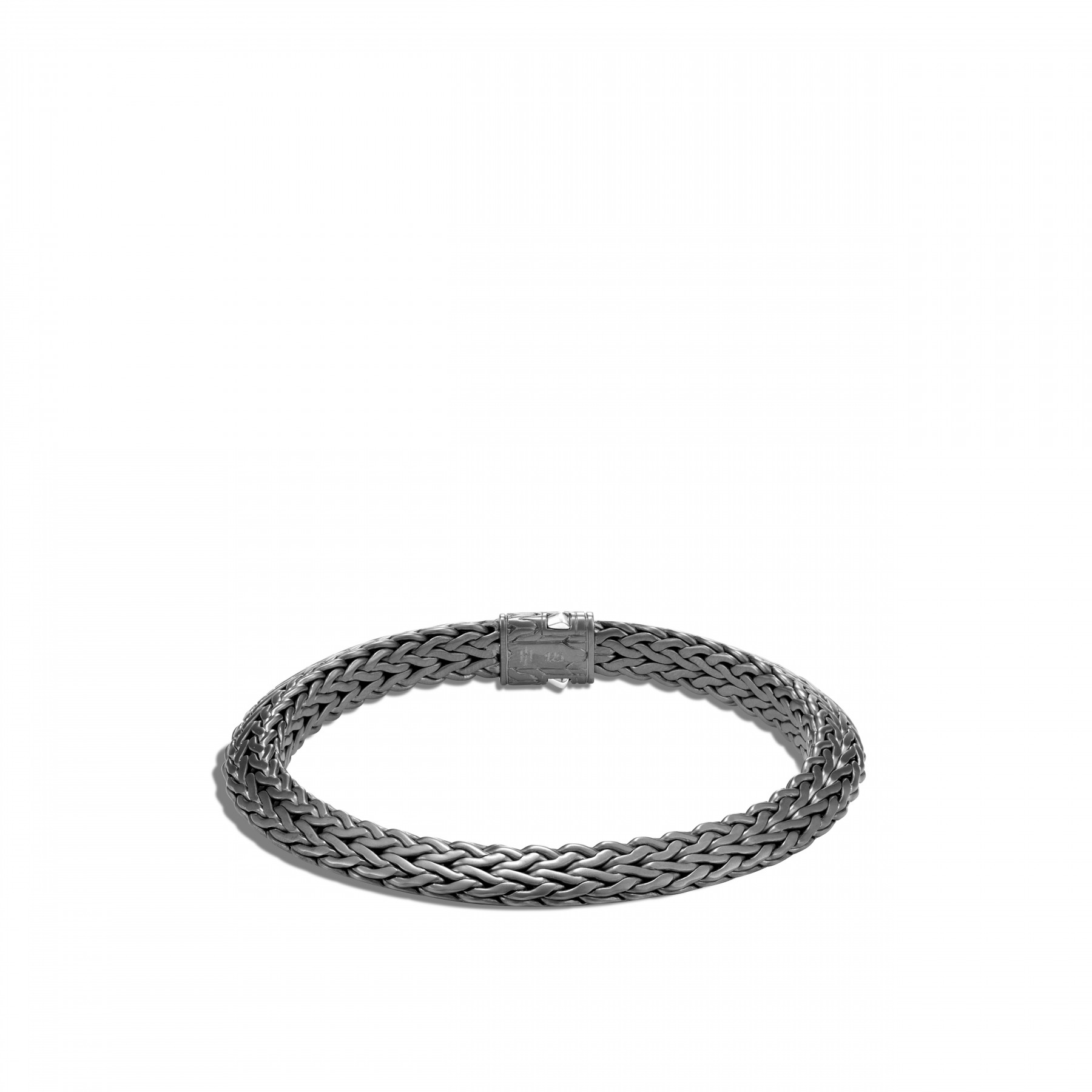 John Hardy Classic Chain Silver and Black Rhodium Bracelet - 8mm back view