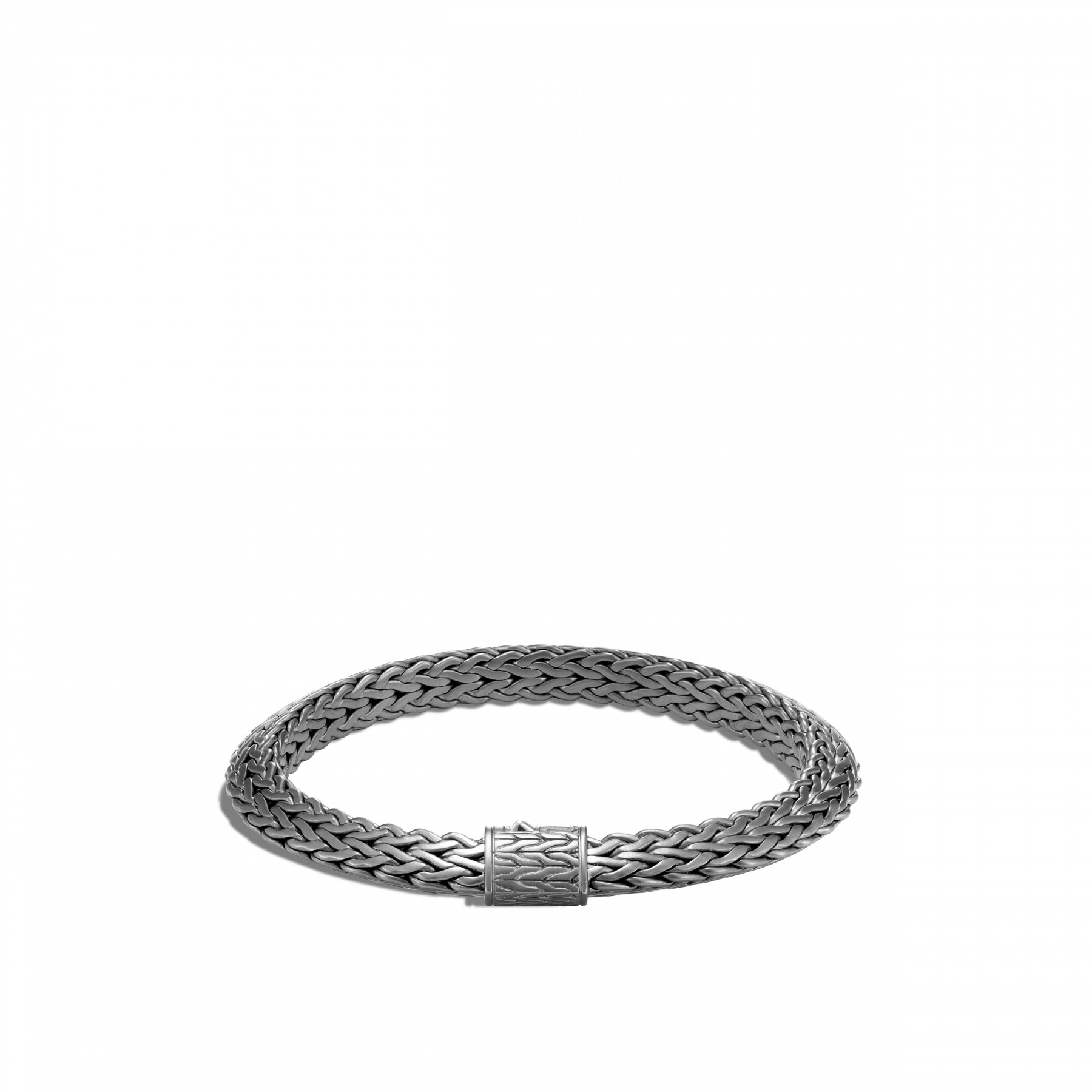 John Hardy Classic Chain Silver and Black Rhodium Bracelet - 8mm front view