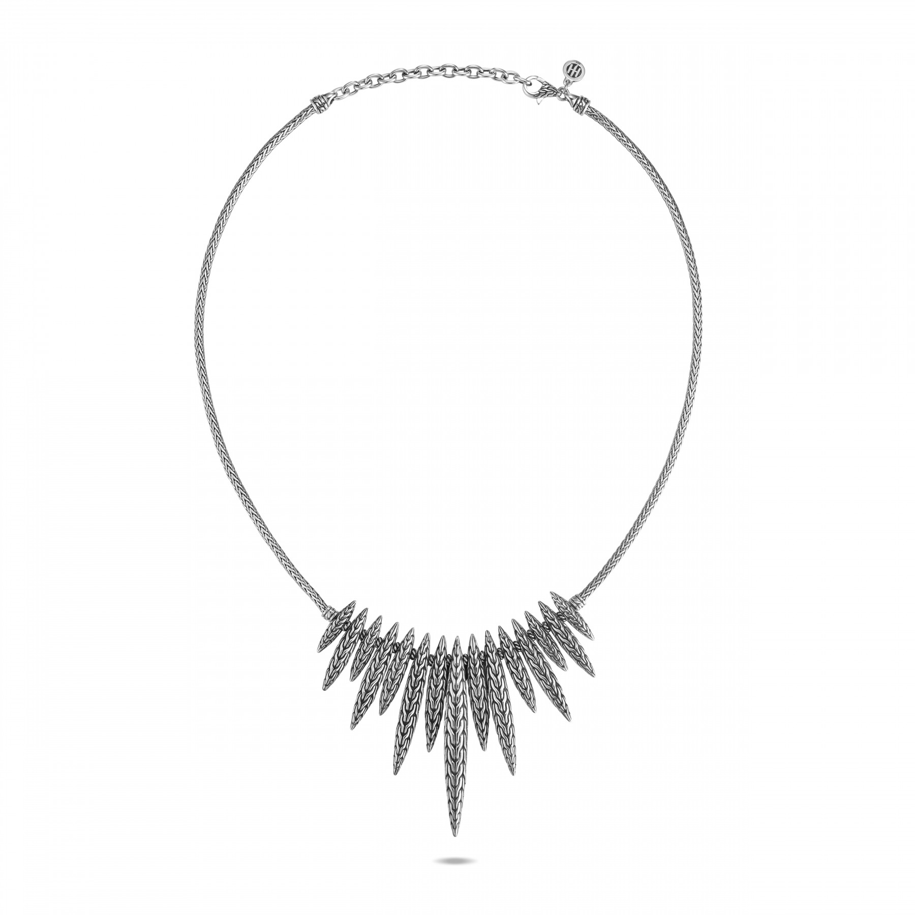 John Hardy Classic Chain Dangling Spear Necklace full view