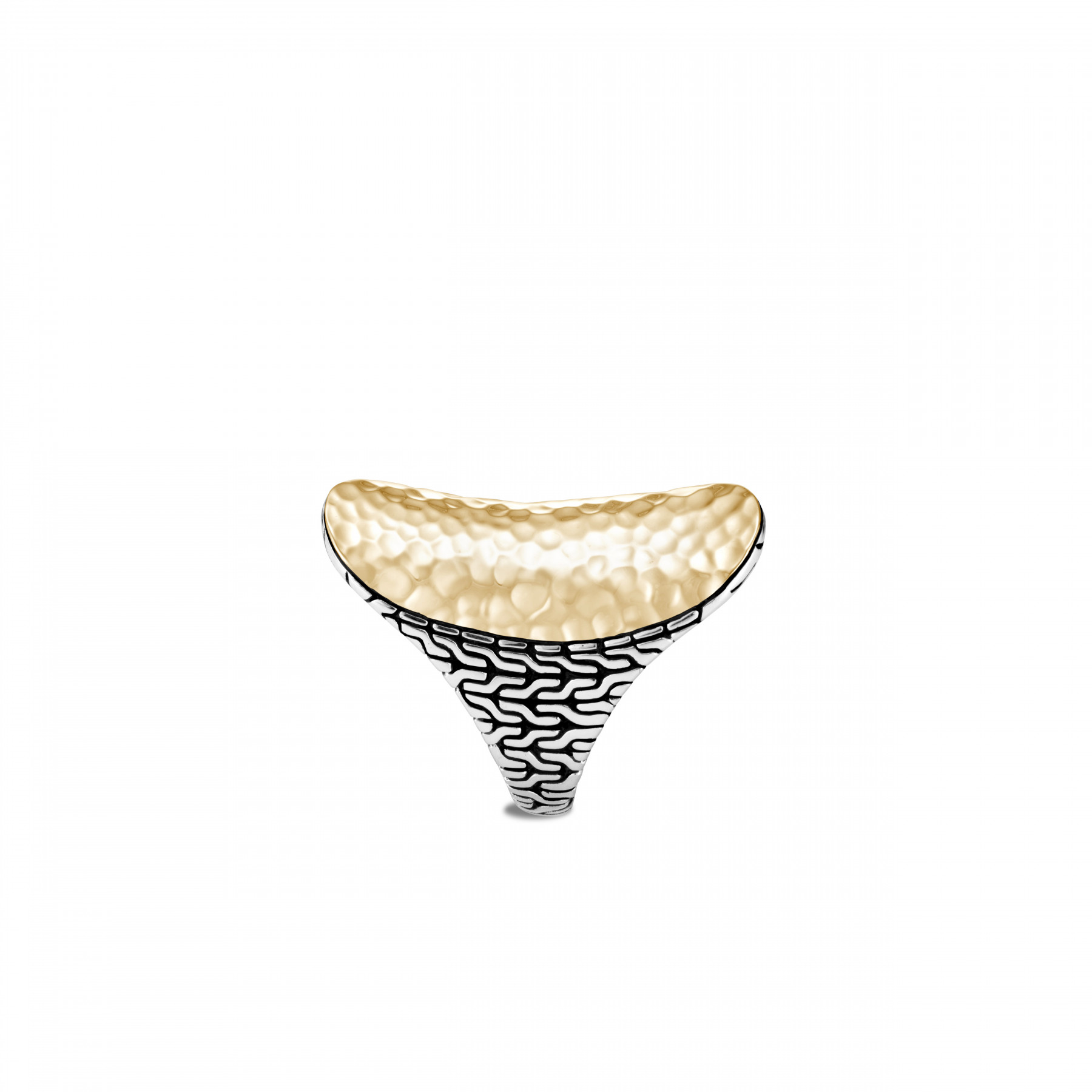 John Hardy Classic Chain Silver and Gold Saddle Ring side view