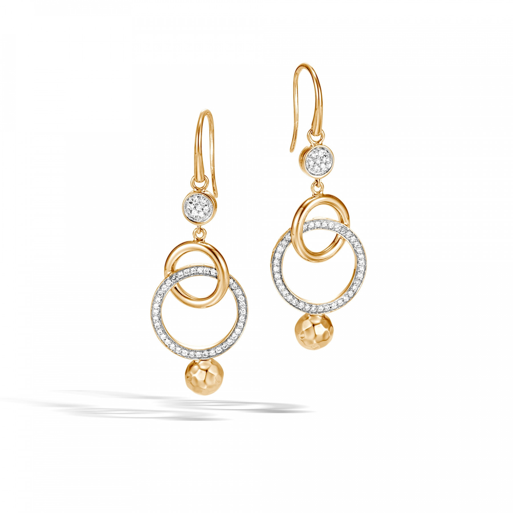 John Hardy Dot Hammered Drop Earrings front view