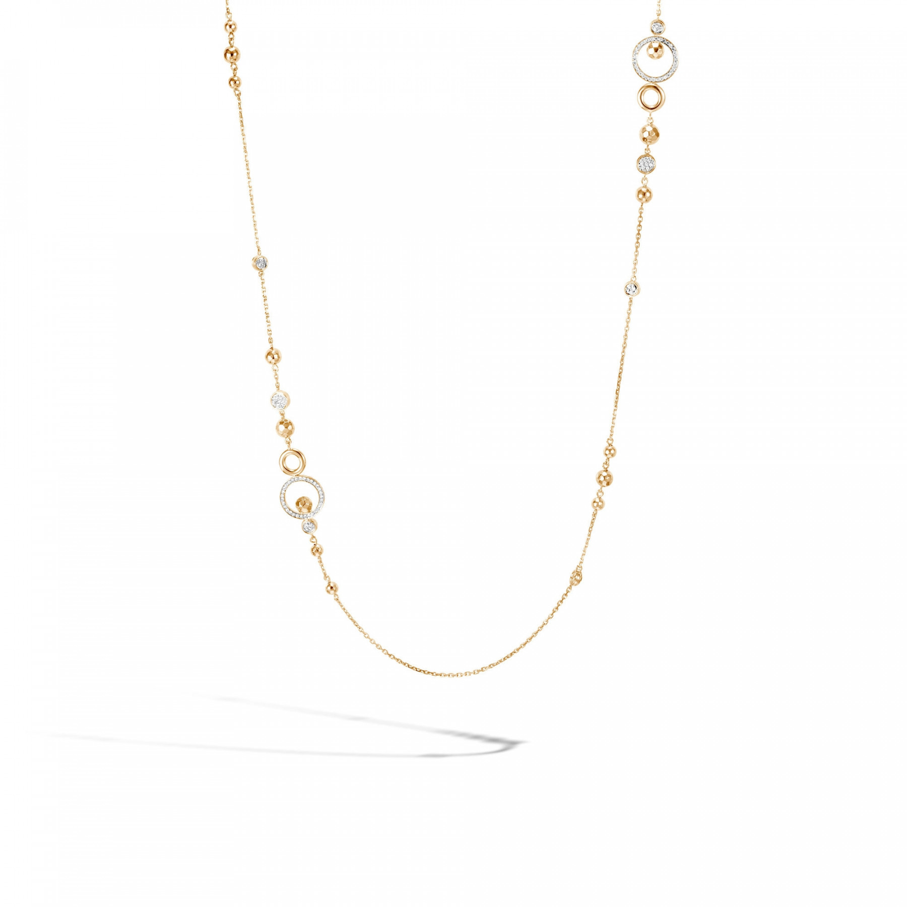 John Hardy Dot Hammered Station Necklace with Diamonds main