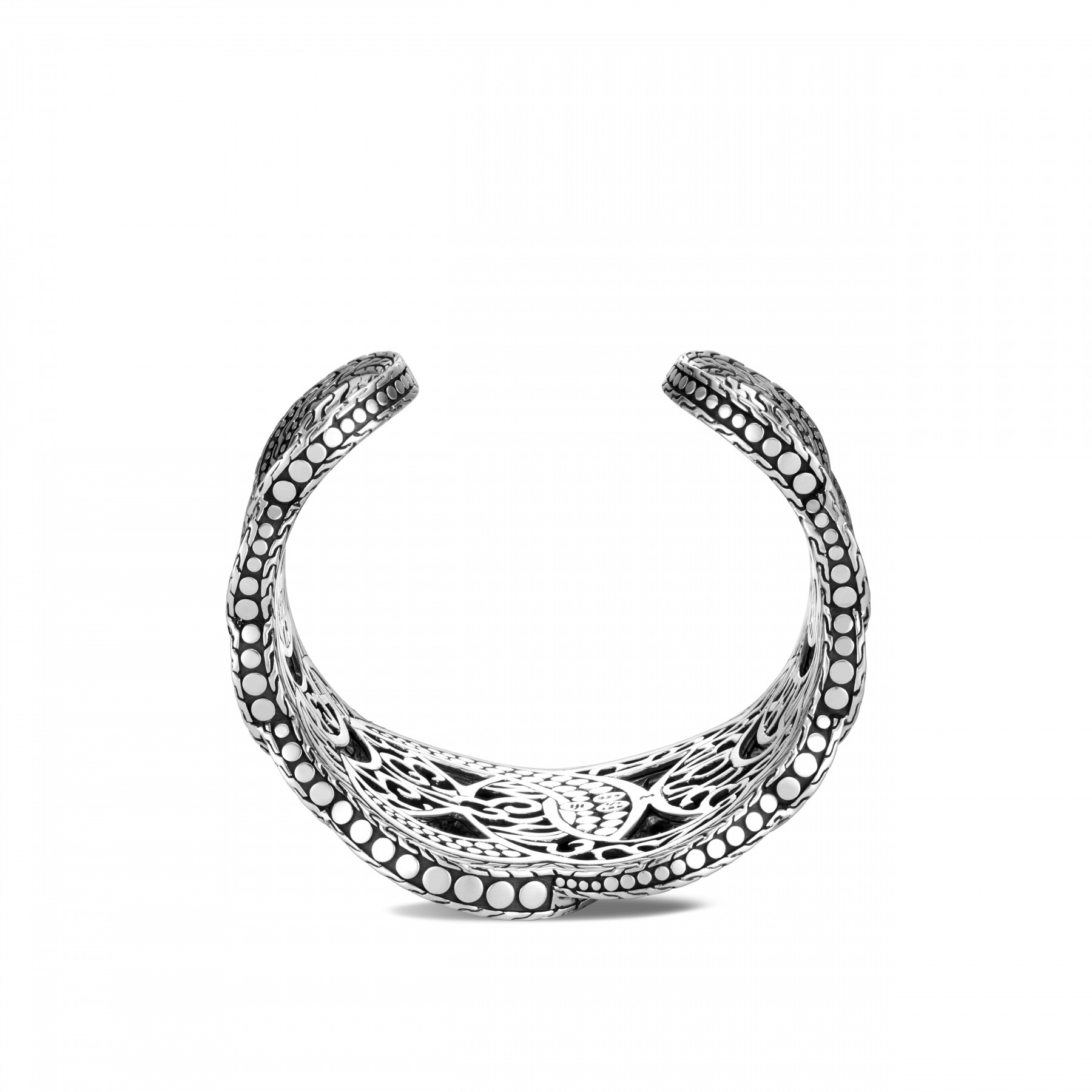 John Hardy Dot Interlinked Two Tone Cuff side view