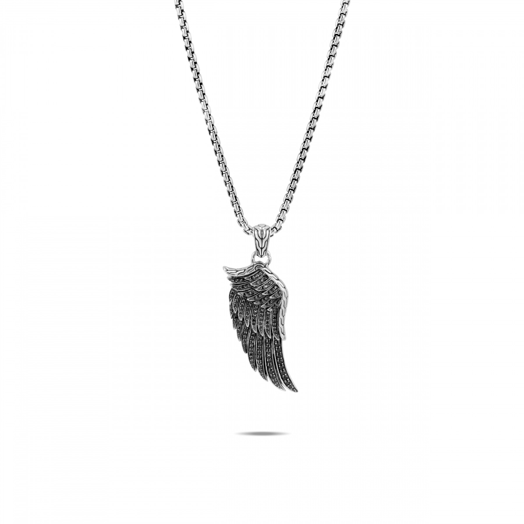 John Hardy Legends Eagle Silver and Sapphire Wing Necklace front view