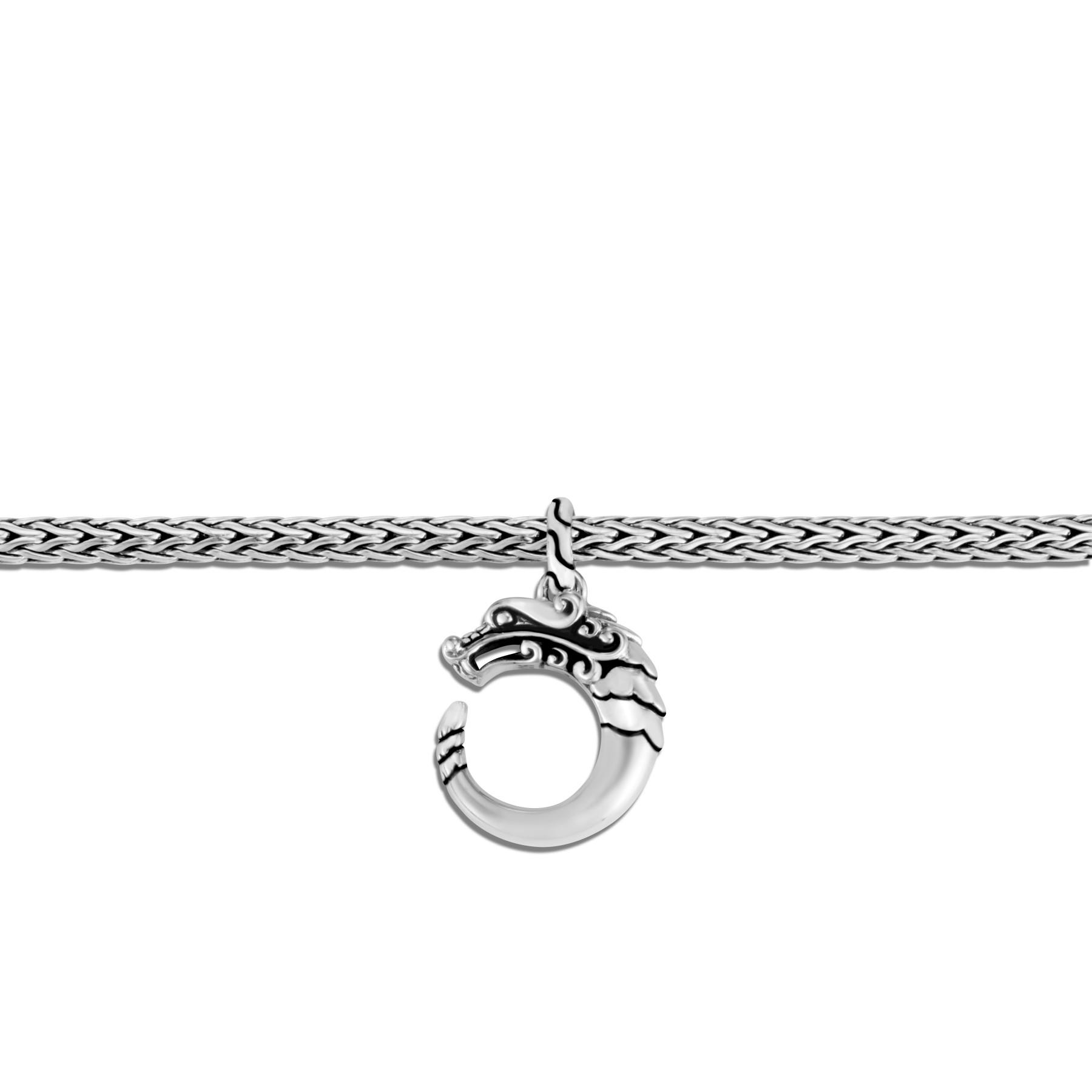 John Hardy Legends Naga Sterling Silver Dragon Charm Bracelet close up