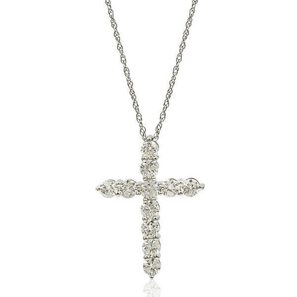 1.5 Carat Diamond Cross Necklace