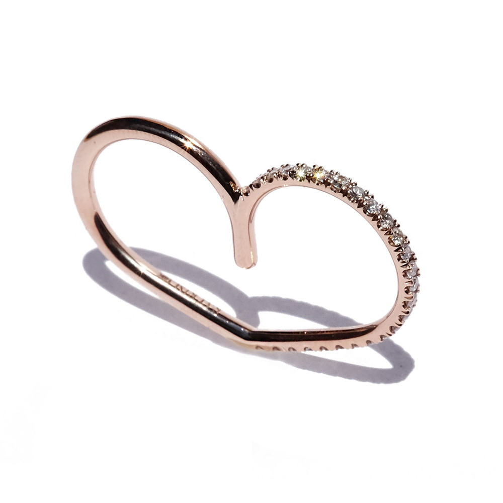 KATKIM Diamond Eternal Double Ring in Rose Gold