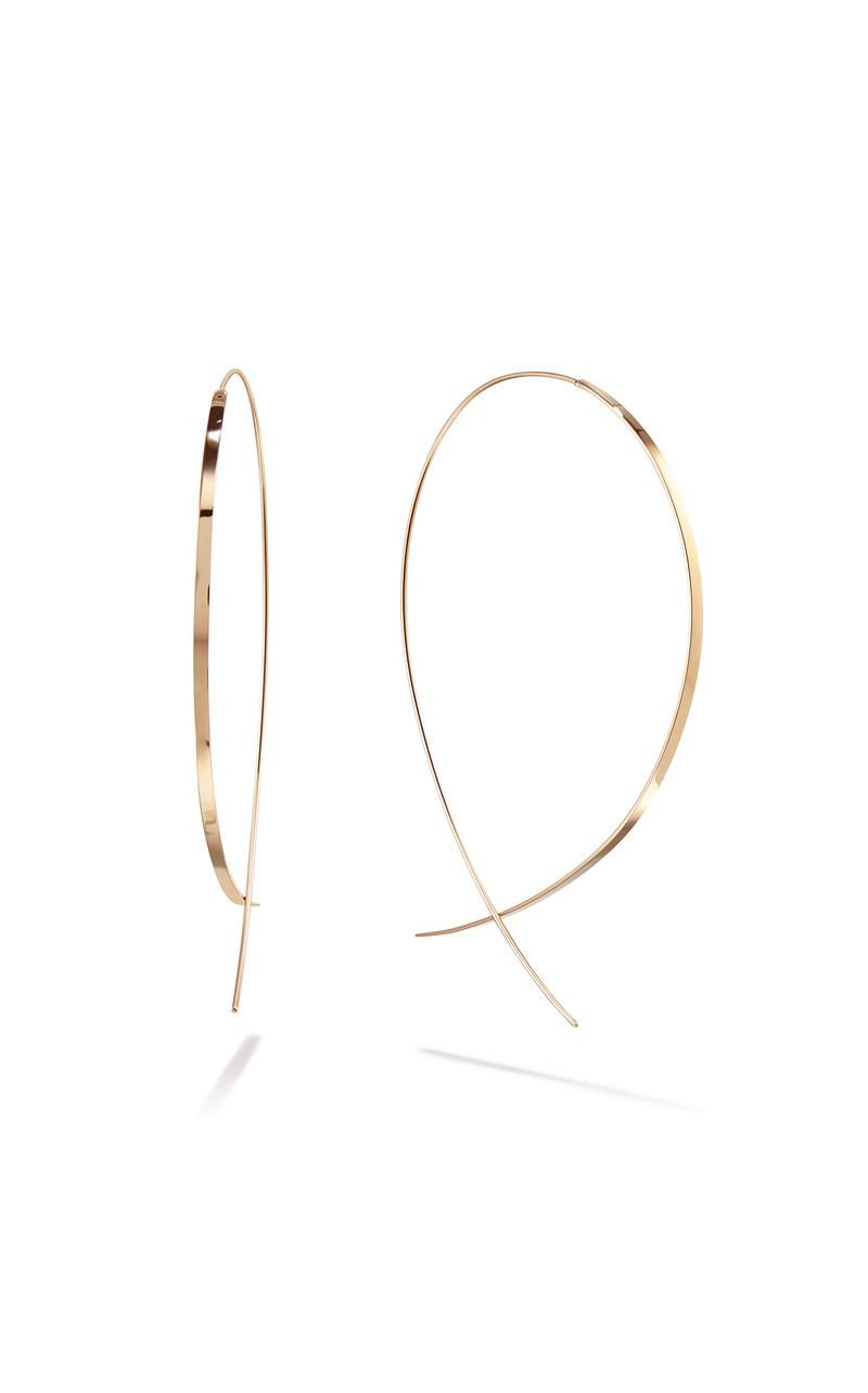 Lana Upside Down Flat Hoop Earrings in 14K Yellow Gold main view