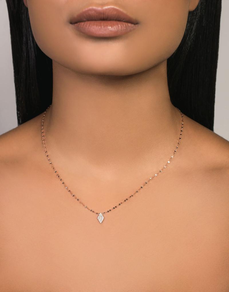 Lana Mini Kite Pendant Necklace in 14K Gold on model