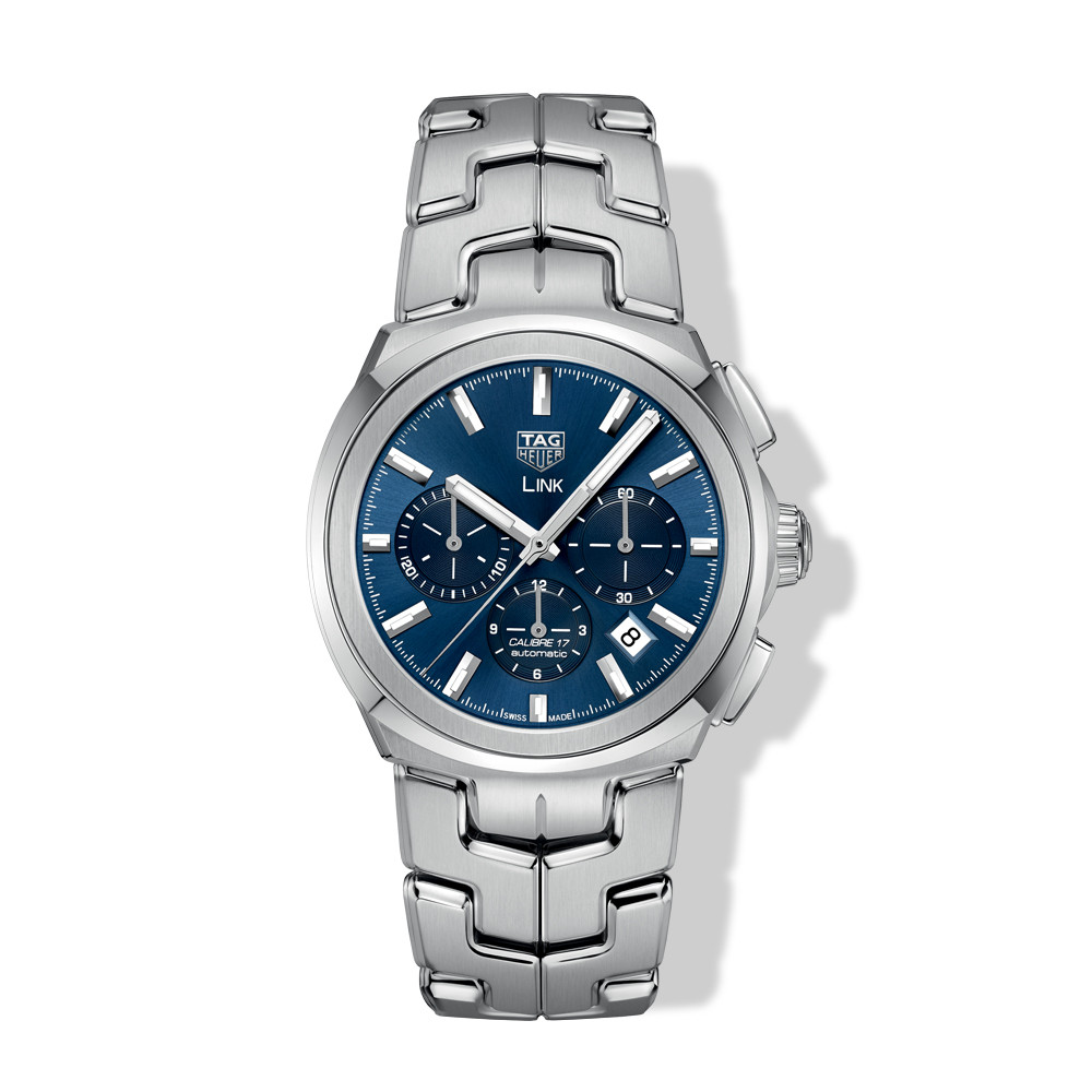 Tag Heuer Link 41mm Calibre 17 Steel Watch with Blue Dial