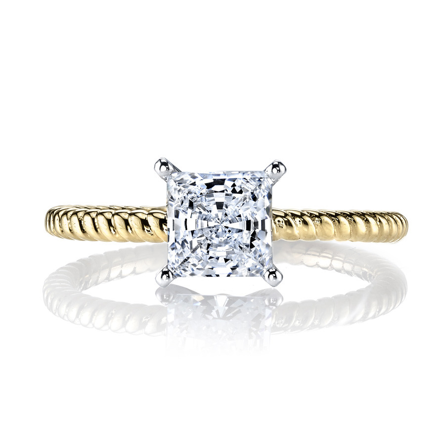 MARS Ever After Princess Solitaire Twist Engagement Ring Setting