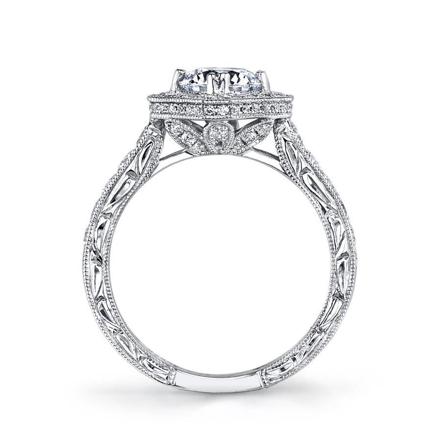 MARS Grand Estates 26100 Diamond Halo Engagement Ring Setting