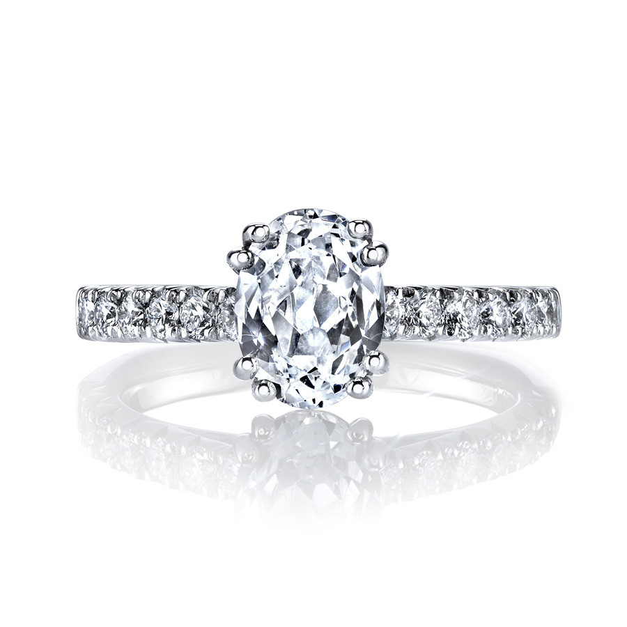 MARS Ever After Oval Diamond Euro Shank Engagement Ring Setting