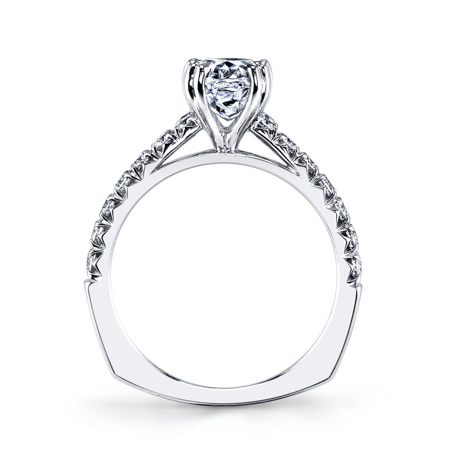 MARS Ever After Oval Diamond Euro Shank Engagement Ring Setting Side View
