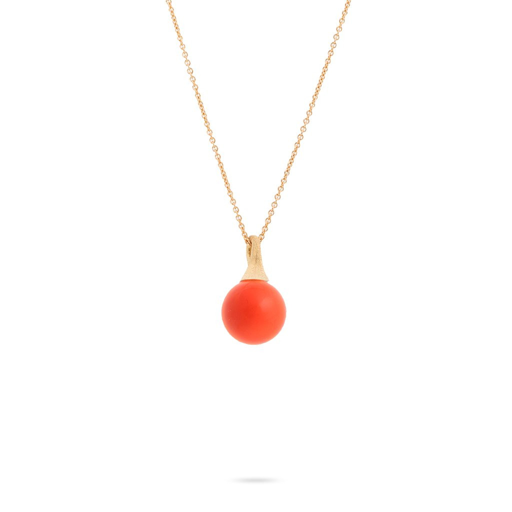 Marco Bicego Africa Boules Coral Necklace in 18K Gold main view