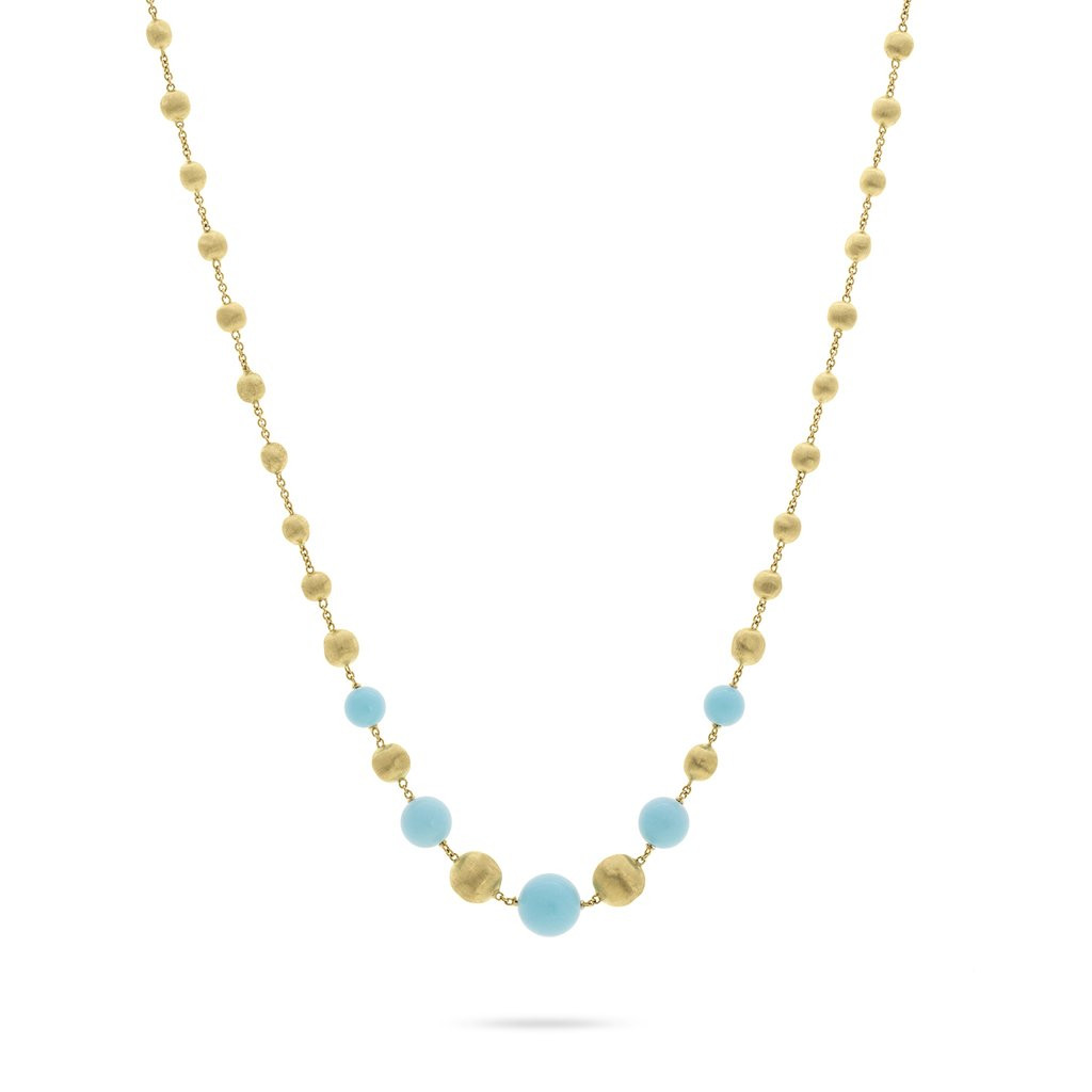 Marco Bicego Africa Gold and Turquoise Short Necklace Main Image