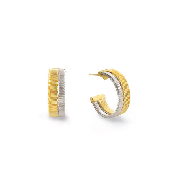 Marco Bicego Masai Two-Tone Double Row Hoop Earrings