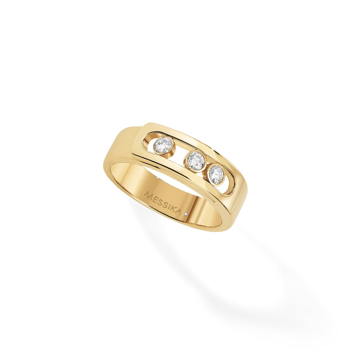 Messika Move Noa Diamond Cage Band Ring in 18K Gold front view