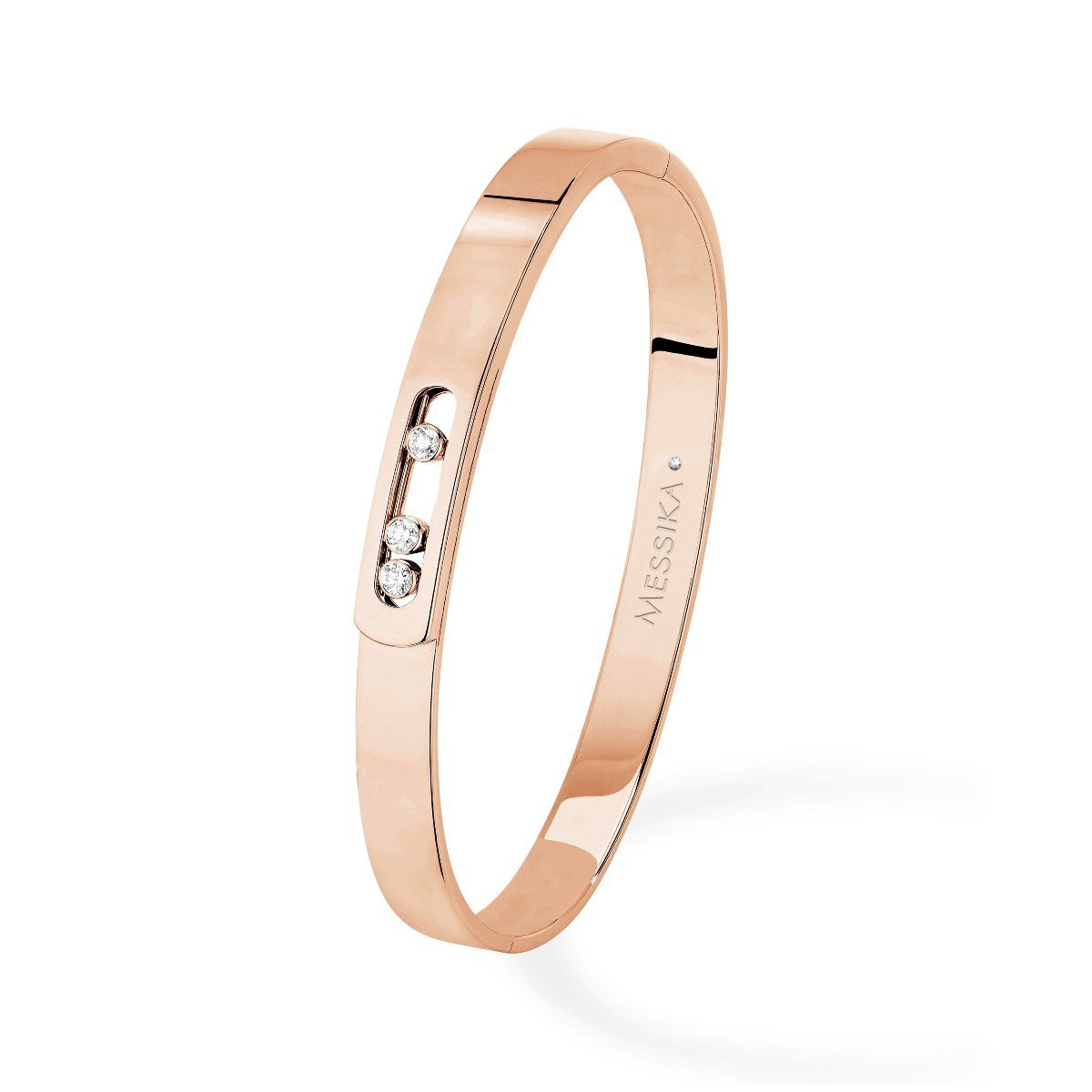 Messika Move Noa Bangle Bracelet in 18K Gold front view