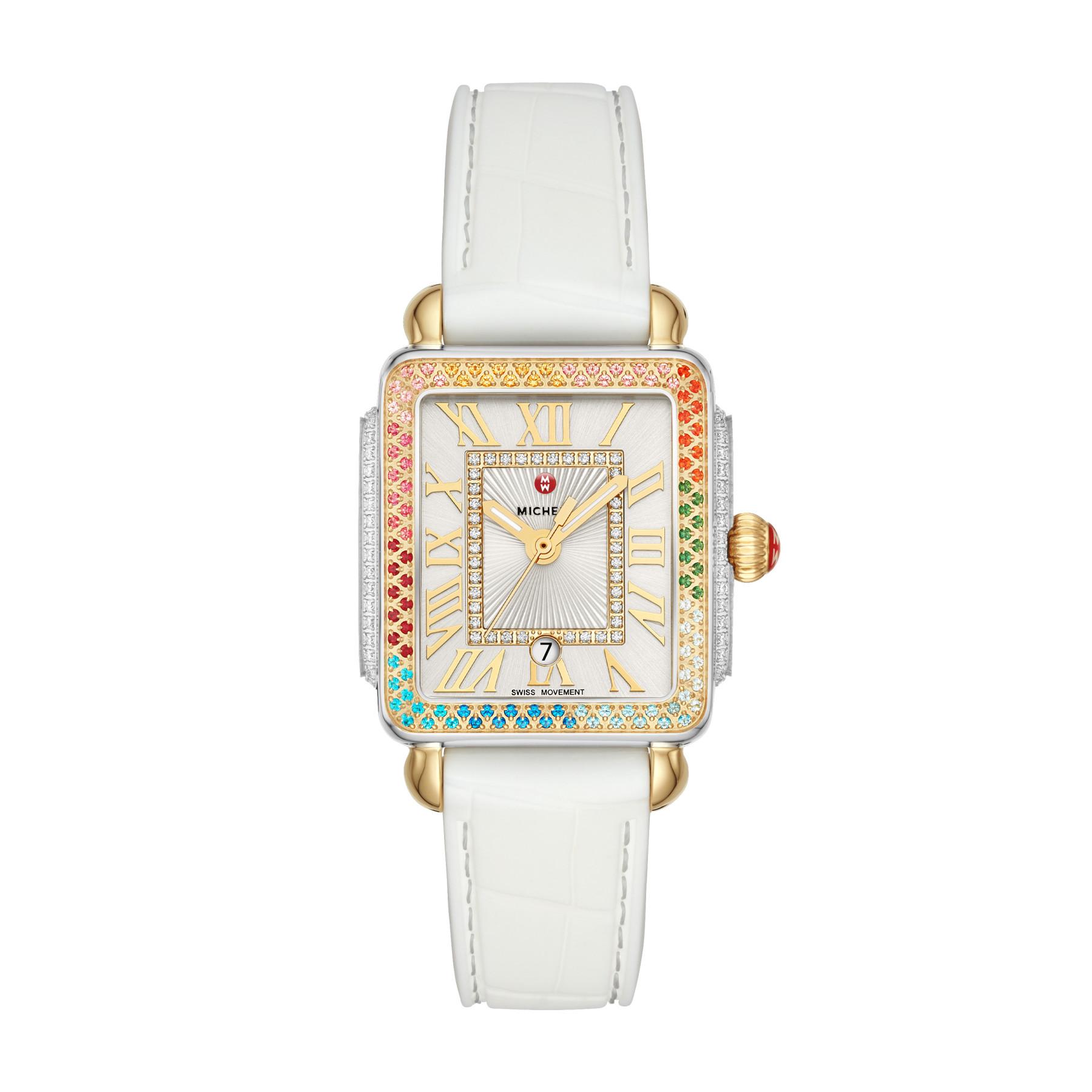 Michele Deco Diamond Carousel Two Tone White Watch – 31mm