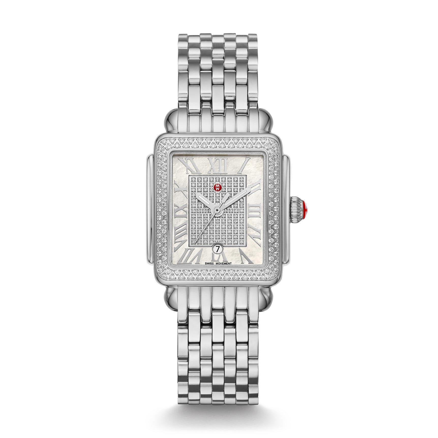 Michele Deco Madison Limited Edition Stainless Steel Diamond Watch #MWW06G000006 main view