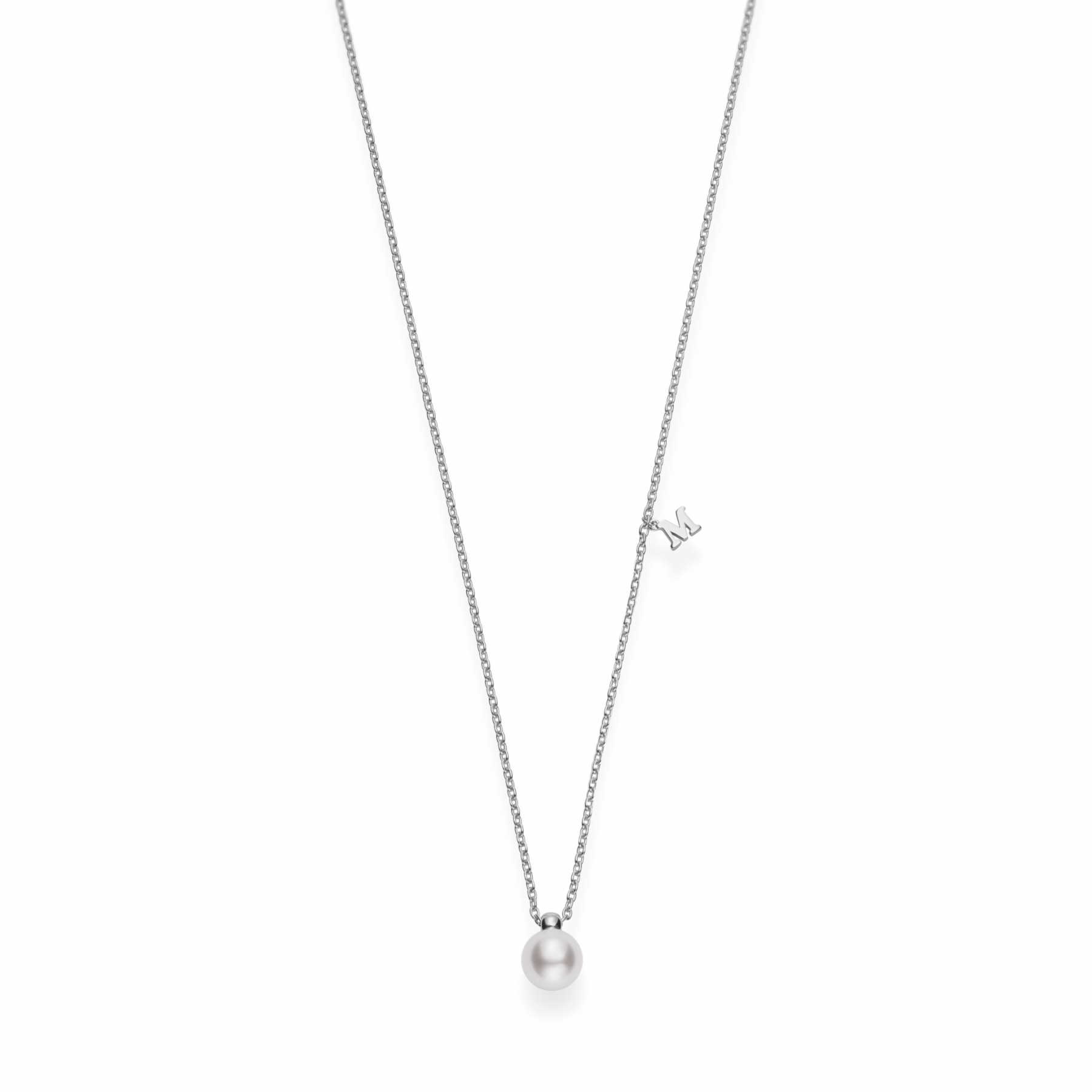 Mikimoto Akoya Pearl Necklace in 18K Gold main view