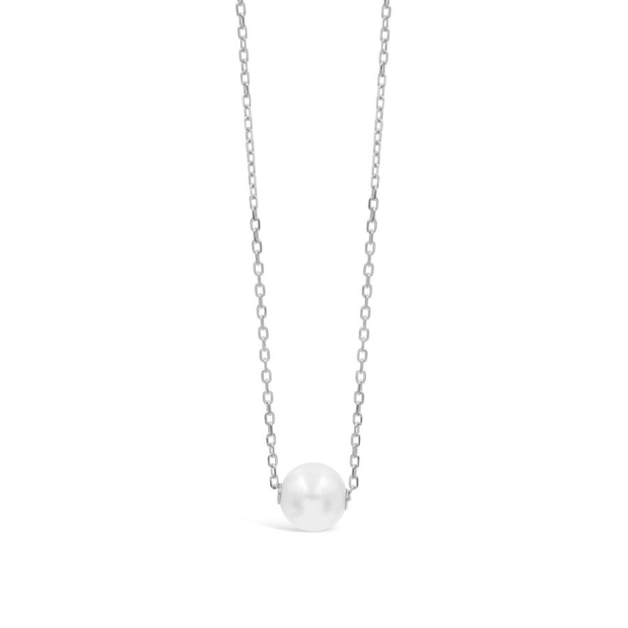 Mikimoto White Gold Pearl Pendant Necklace 8mm