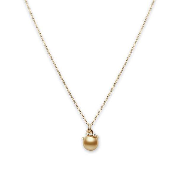 Mikimoto Twist Golden South Sea Pearl Dangle Pendant