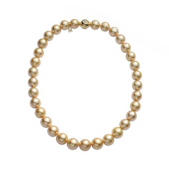 Mikimoto Golden South Sea Pearl 18kt Yellow Gold