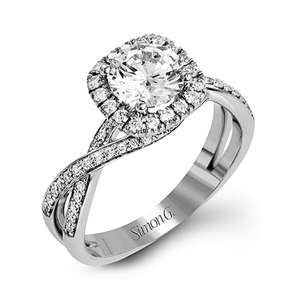 Simon G. Fabled Halo Engagement Ring Setting