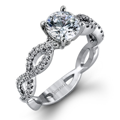 Simon G MR1596 Fabled Pave Criss-Cross Engagement Setting