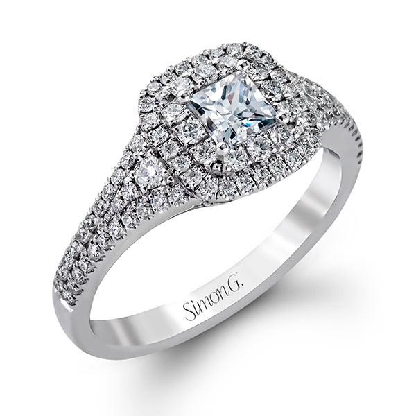 Simon G Passion Double Diamond Halo Engagement Setting