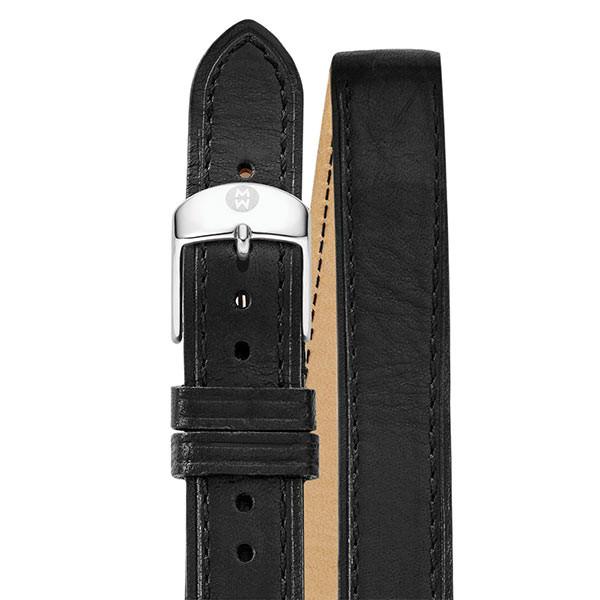 Michele Double Wrap Black Leather 18mm Strap