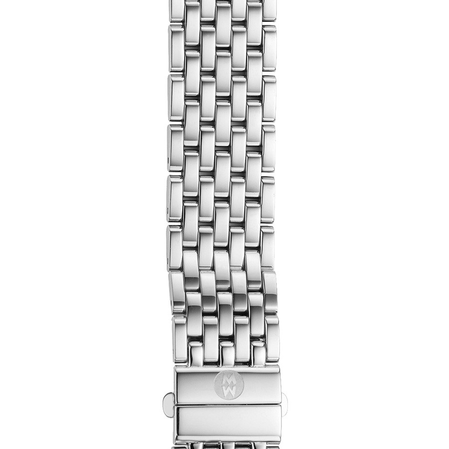 Michele 16mm Deco 16 Stainless Steel 7 Link Bracelet