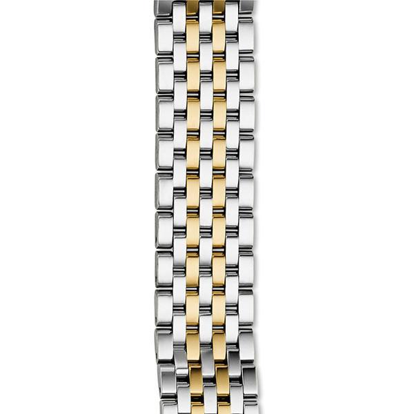 Michele 16mm Deco II  Two Tone Mid-Size Bracelet