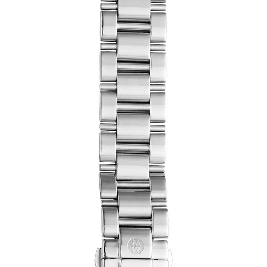 Michele 18mm Deco Stainless Steel 3 Link Bracelet