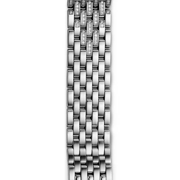 Michele 18mm Deco Taper Stainless Steel Diamond 7 Link Bracelet