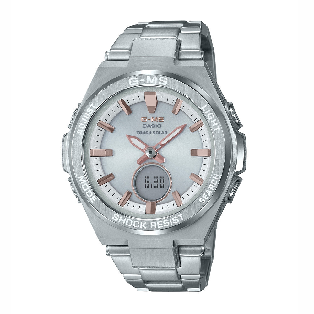 G-Shock G-MS Steel Silver Dial Solar Watch