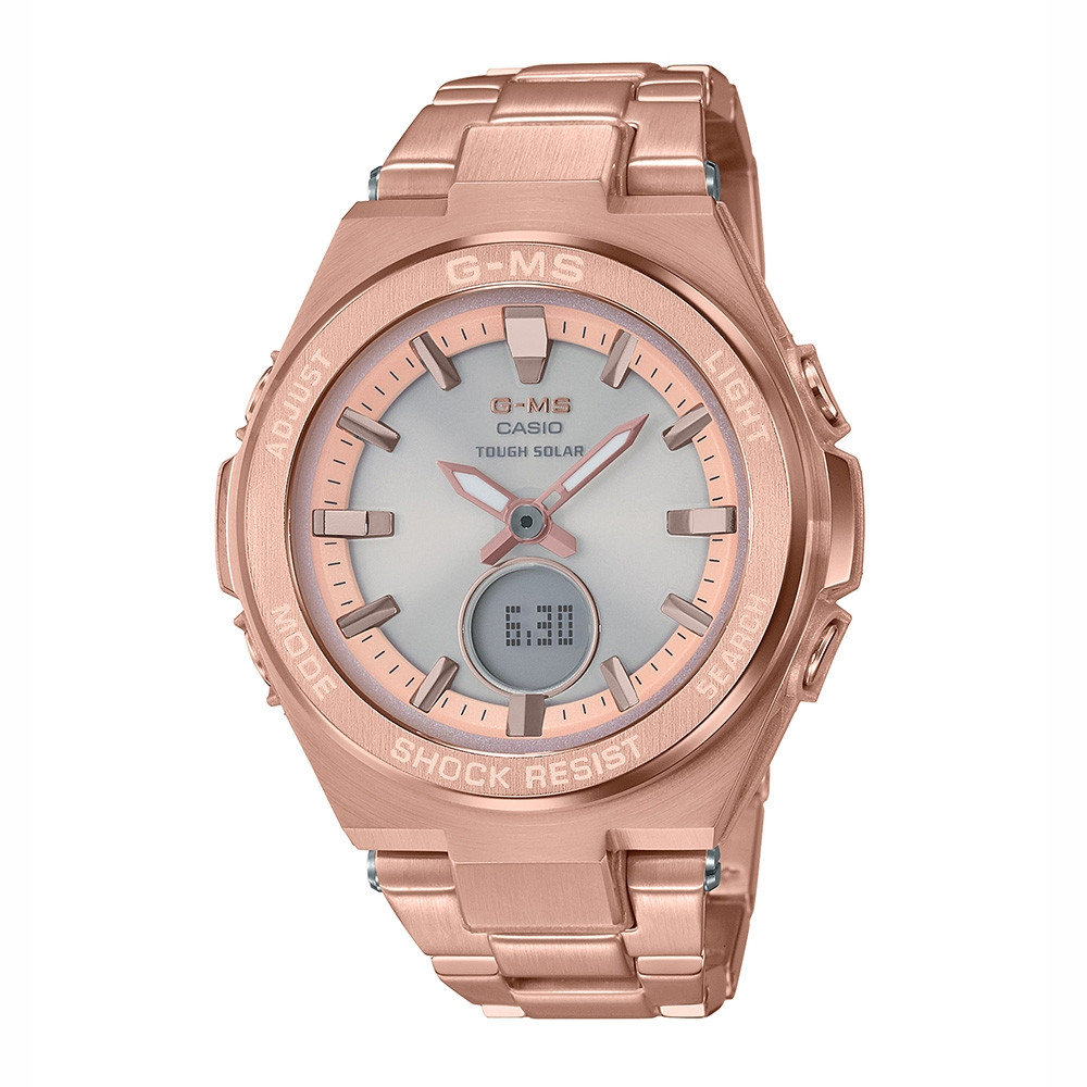 G-Shock G-MS Stainless Steel Golden Solar Watch