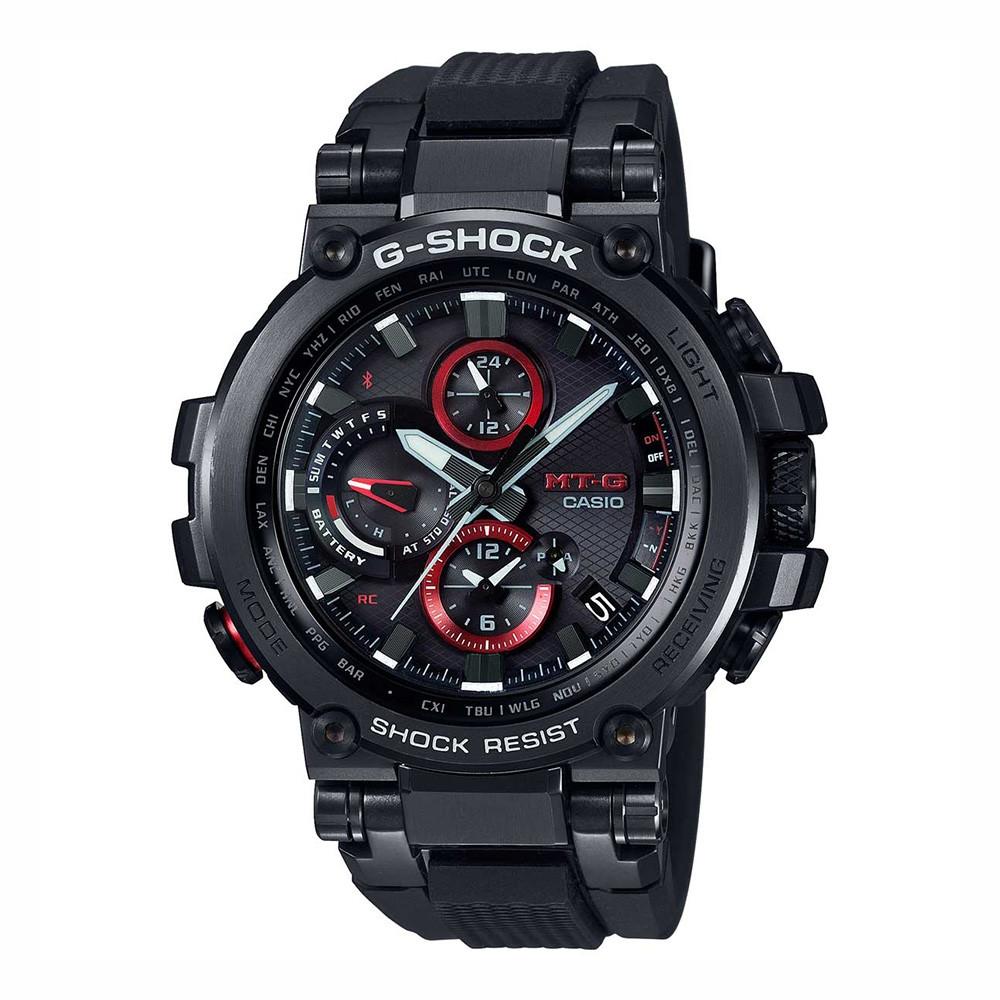 G-Shock Black & Red GPS Hybrid Radio Wave MT-G Connected Watch