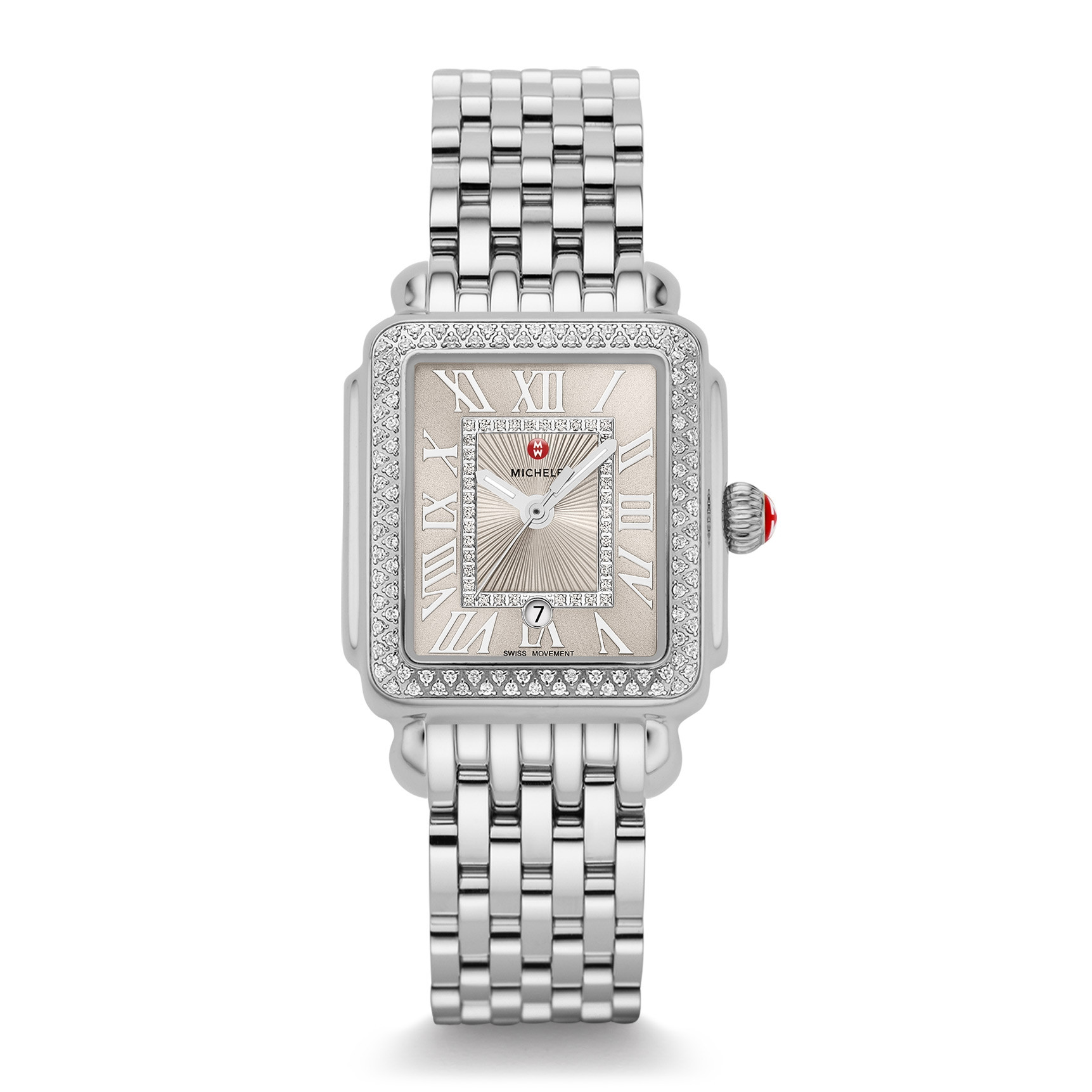 Michele Deco Madison Diamond Cashmere Dial Watch