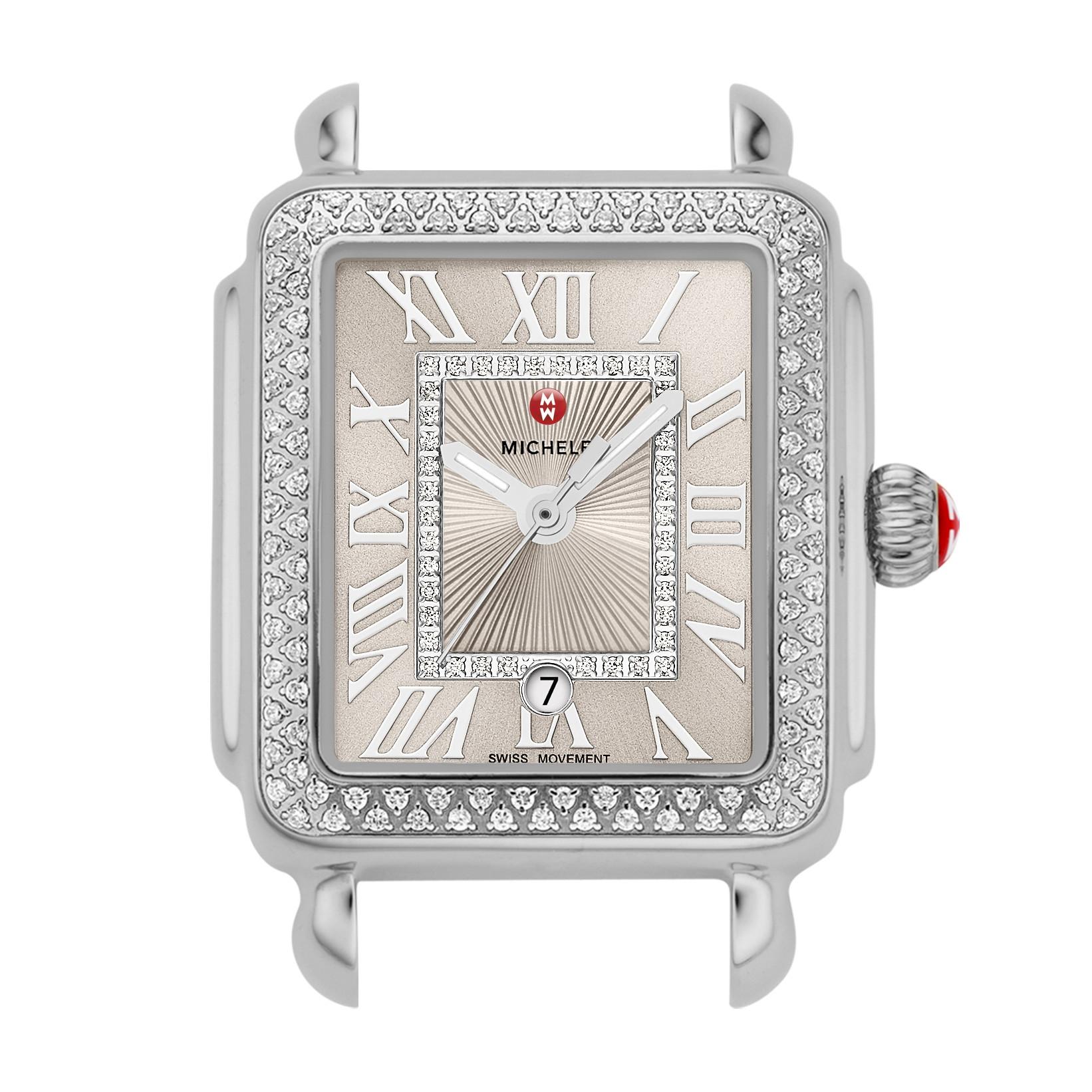 Michele Deco Madison Mid Cashmere Diamond Watch