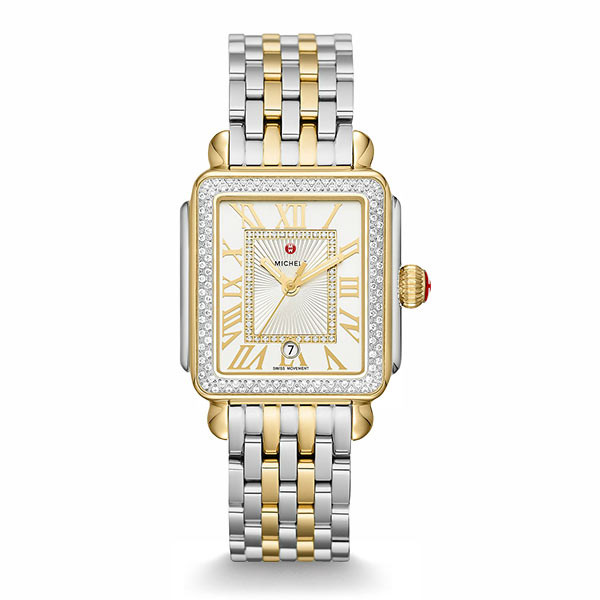 Michele Deco Madison Diamond Two Tone Watch