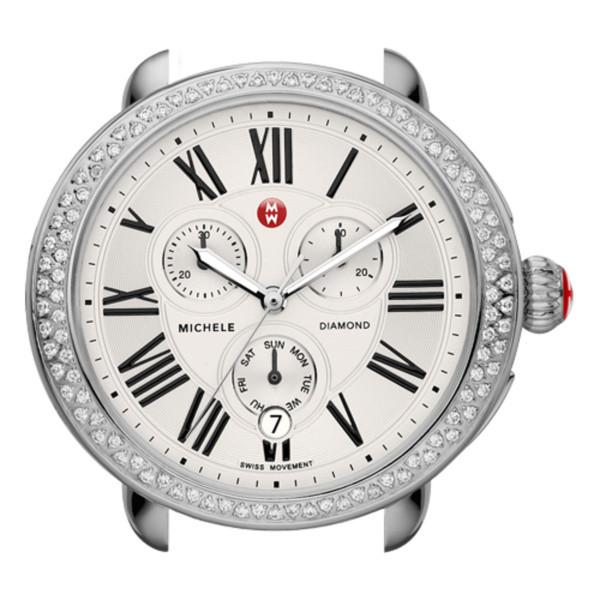 Michele Serein Stainless Steel Diamond Watch (Head Only)