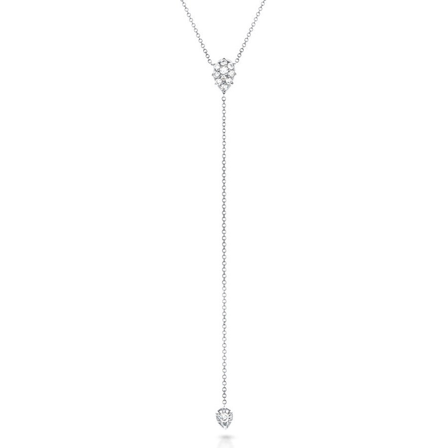 Carbon & Hyde Stella White Gold Diamond Lariat Necklace