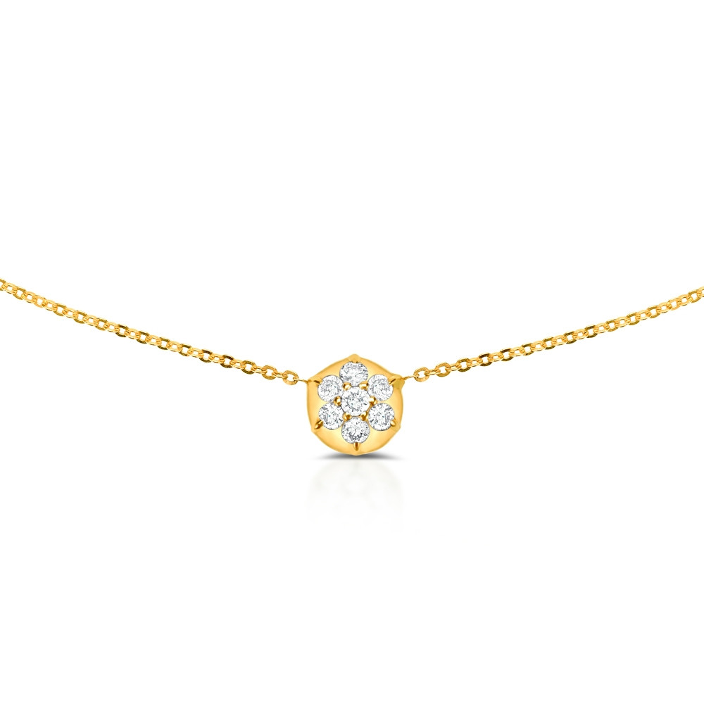 Yellow Gold Bullet Diamond Choker Necklace by Carbon & Hyde