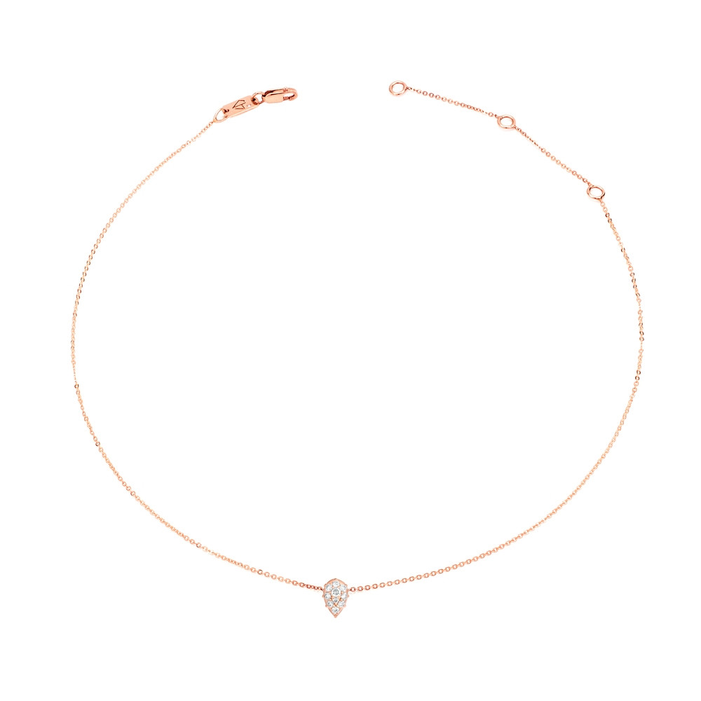 Rose Gold Venus Diamond Choker Necklace by Carbon & Hyde