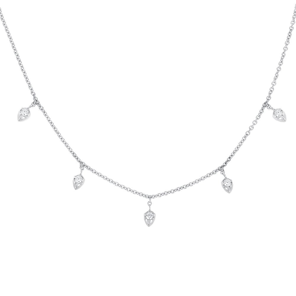 Carbon & Hyde Lily White Gold Diamond Station Choker