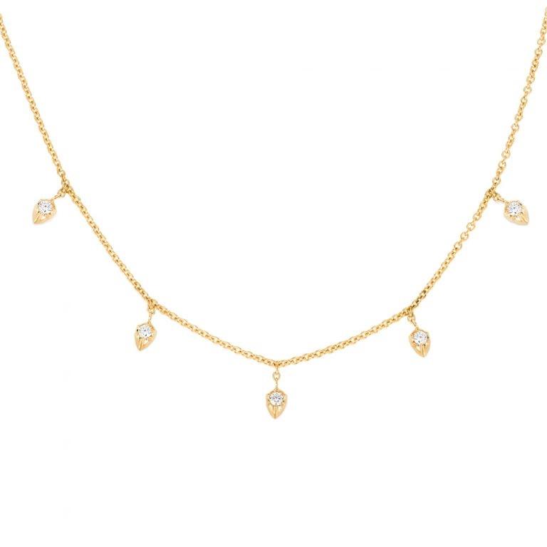 Carbon & Hyde Yellow Gold Lily Diamond Choker